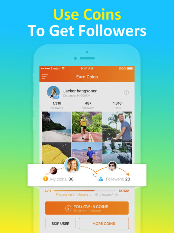 Screenshots of Get Followers for Instagram, More Real Likes for iPad