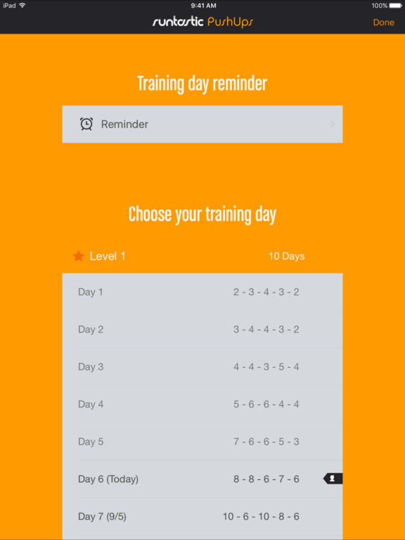 Runtastic Push Ups PRO: Workouts, Trainer, Counter Screenshots