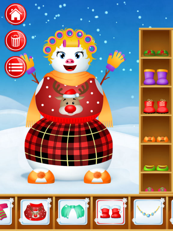 123 Kids Fun SNOWMAN - Decorate your own Snowman! Screenshots