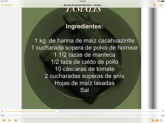 Recetas de Cocina Mexicana - AudioEbook iPad Screenshot 1