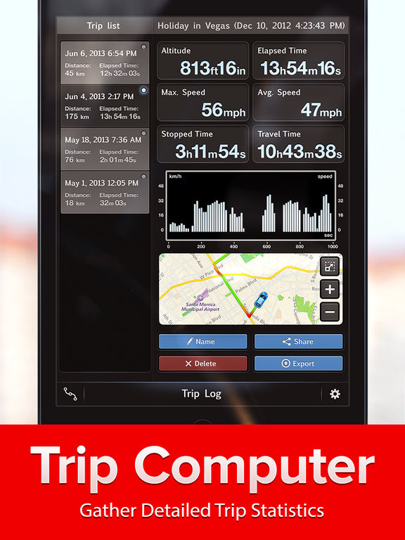 Speed Tracker. GPS Speedometer, HUD, Trip computer Screenshots