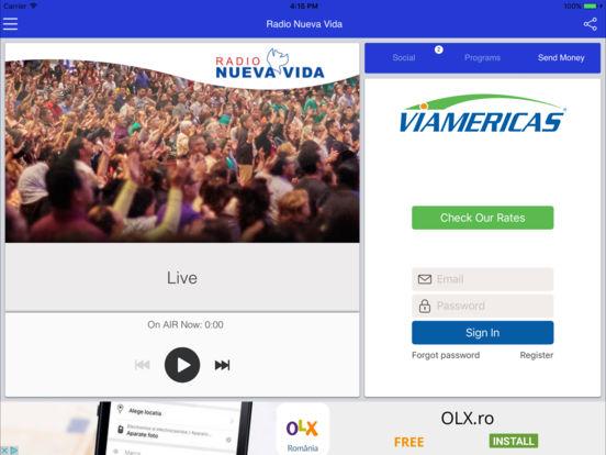 Radio Nueva Vida – Alabando a Dios en todo momento. iPad Screenshot 3