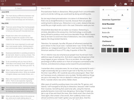 Chronicle for iPad - A personal journal iPad Screenshot 3