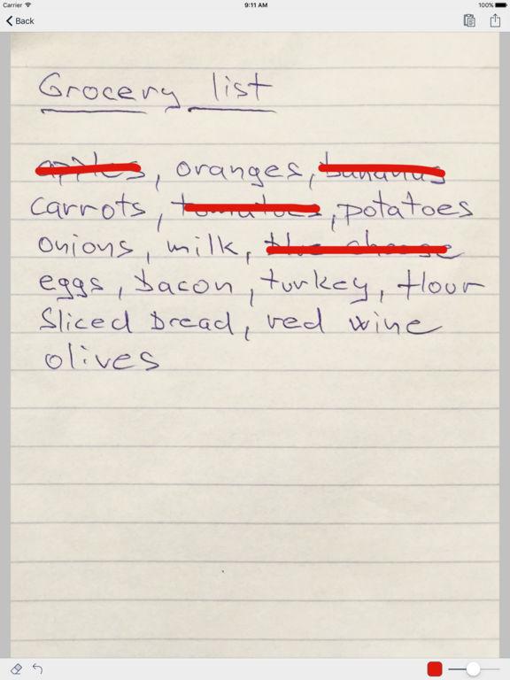 Paper Shopping List & Grocery List - Full Version Screenshots