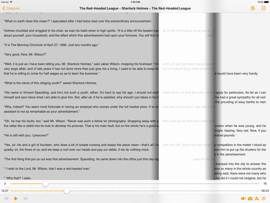 The Red-Headed League – AudioEbook iPad Screenshot 2