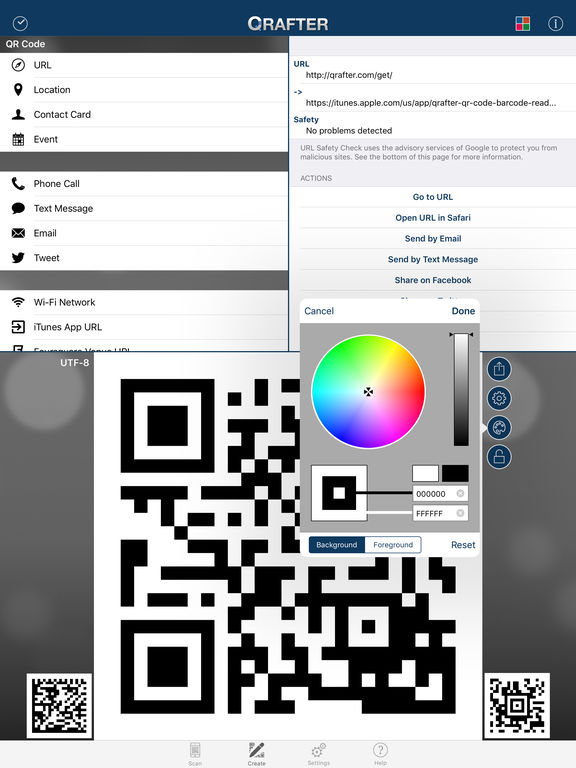 Qrafter Pro - QR Code Reader and Generator Screenshots