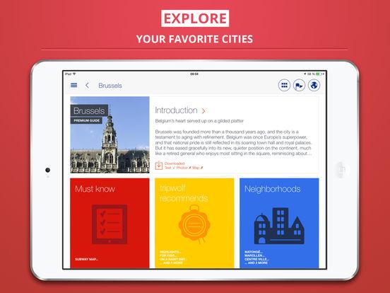 Brussels City tripwolf Travel Guide iPad Screenshot 1