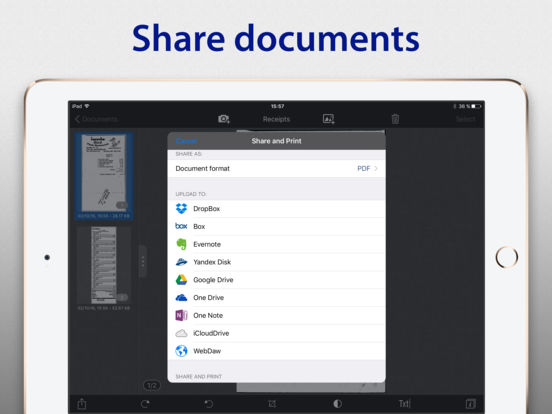 SharpScan Pro + OCR: scan documents to clean PDF Screenshots