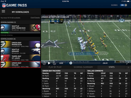 NFL Game Pass Screenshots