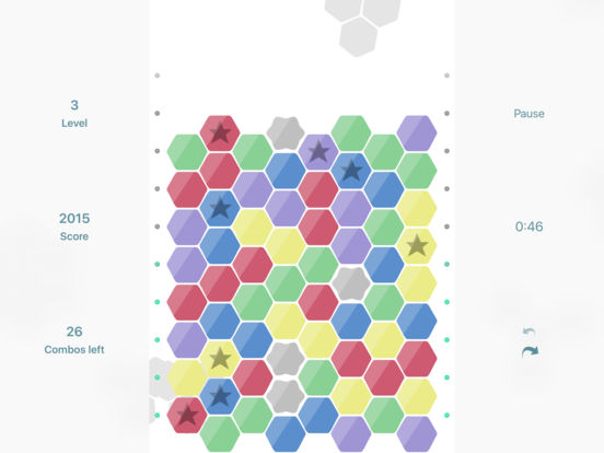 Hexic for iOS - the original game Screenshots