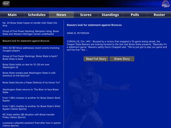 Boise State Broncos College SuperFans iPad Screenshot 3