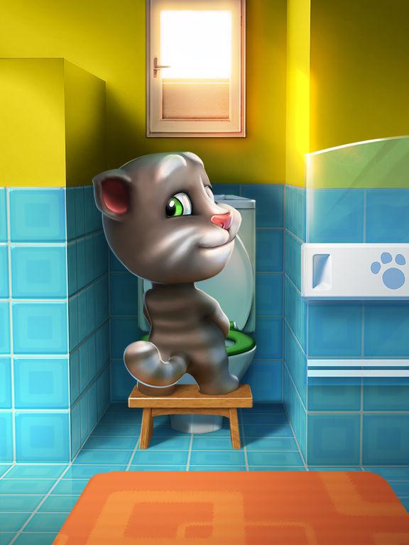 Screenshots of My Talking Tom for iPad