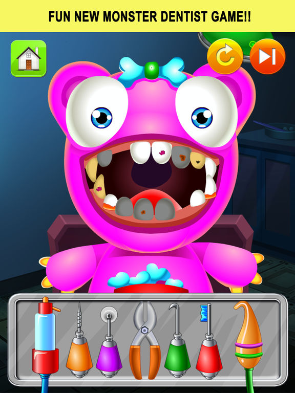 Monster Dentist Doctor Shave - Kid Games Freescreeshot 1
