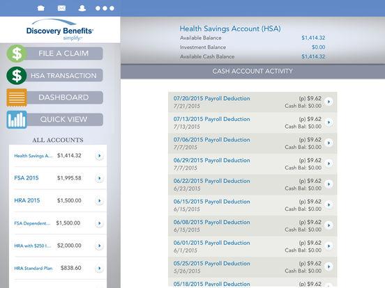 Discovery Benefits Mobile iPad Screenshot 2