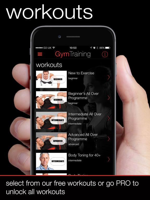 Gym Training by Weightplan.com screenshot