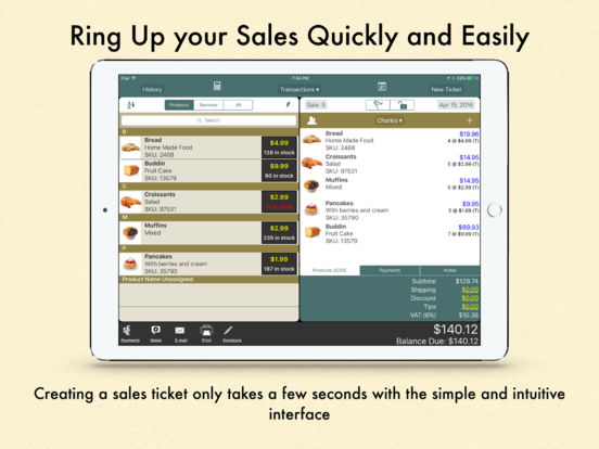 Ring It Up Free: Point of Sale iPad Screenshot 1