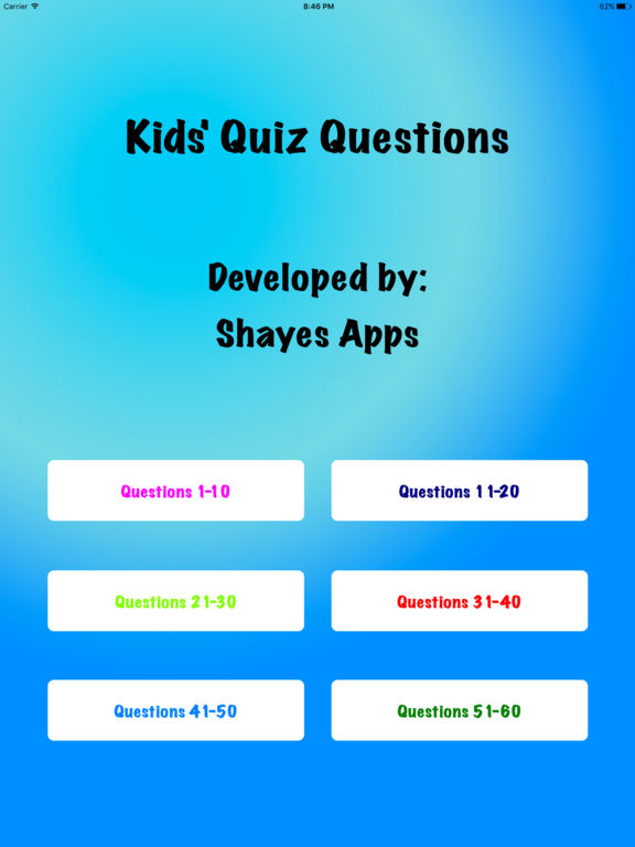 quiz questions for kids Play the free movies for kids quiz at quiz factor create your own quiz questions & answers or play from a wide range of quizzes online.