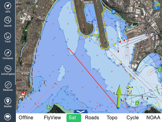 Marine: Sydney HD - GPS Map Navigator iPad Screenshot 1