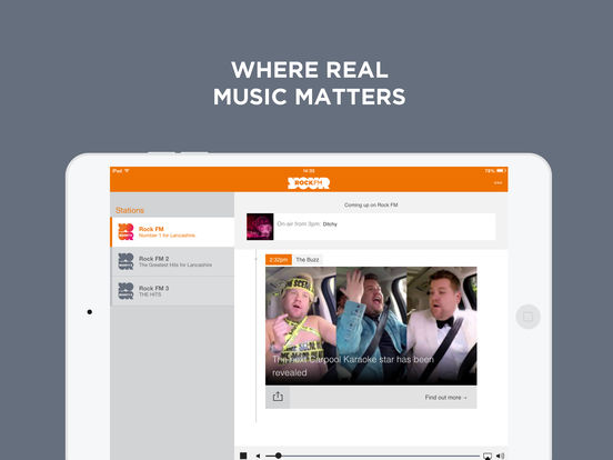 97.4 Rock FM iPad Screenshot 1