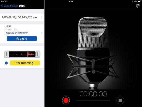 Voice Recorder HD iPad Screenshot 3