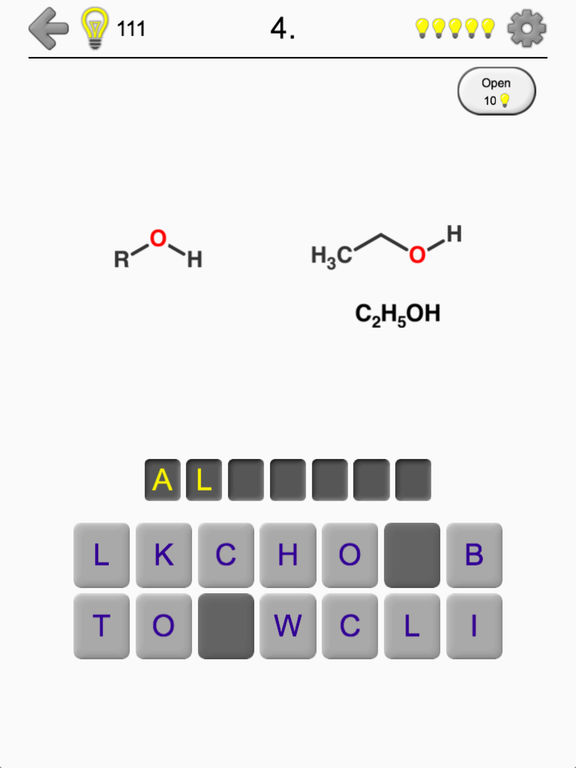 Functional Groups in Organic Chemistry - Quiz Screenshots
