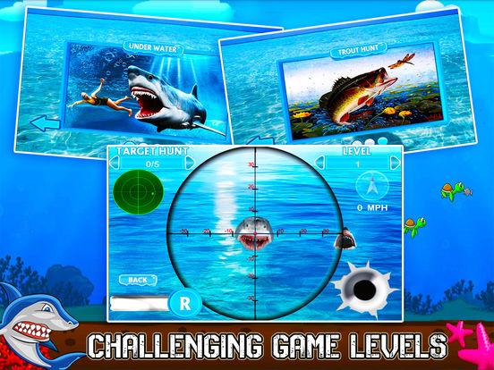 Flying Hungry Shark Endless Shooting Sniper Games-ipad-2