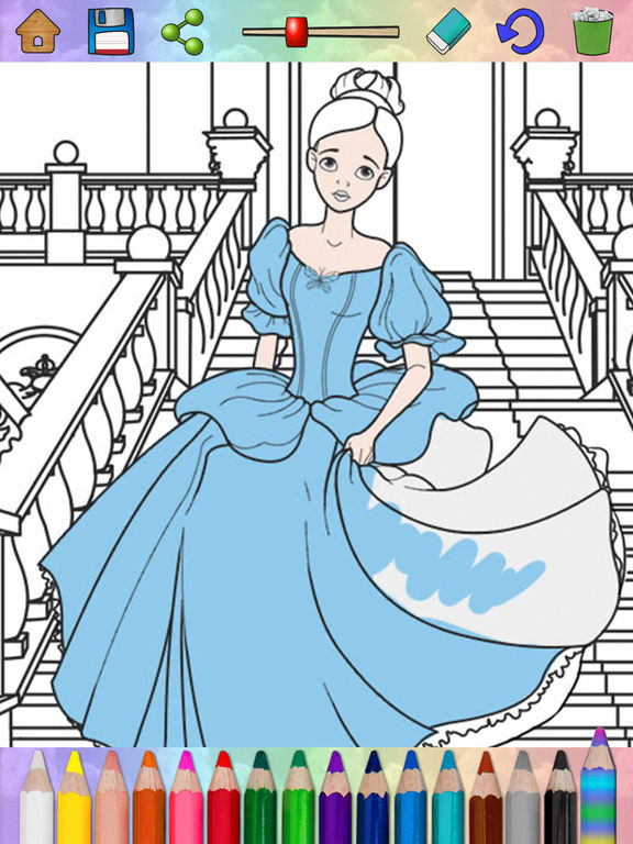 Best Coloring Book For Ipad Pro Fairy Princess Kids On The