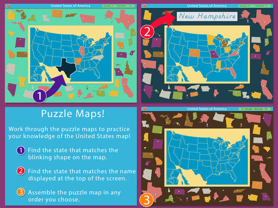 Montessori Approach To Geography HD - United States of America iPad Screenshot 3