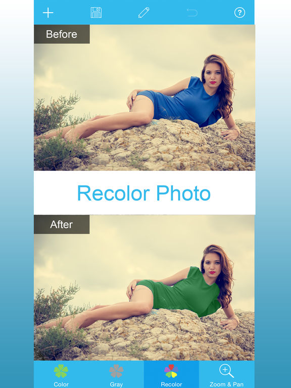 Screenshots of Color Changer - Change Hair Style & Recolor Eye for iPad
