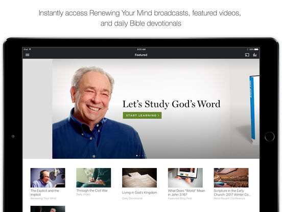 Ligonier Ministries iPad Screenshot 1