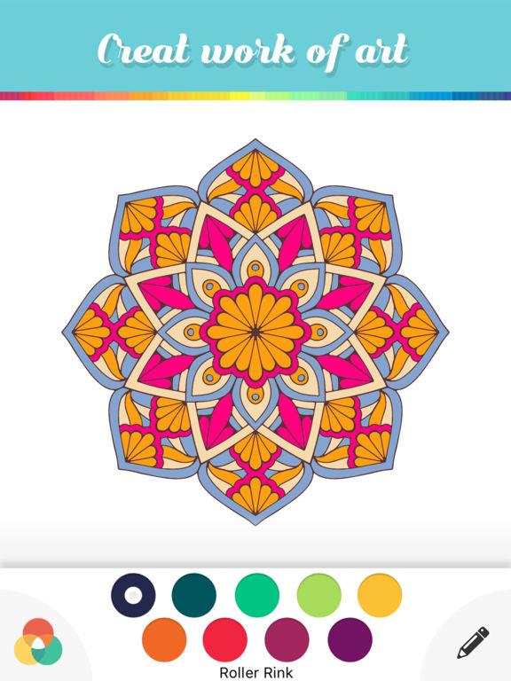 App Shopper Mandala Coloring Books Adults Color Calm
