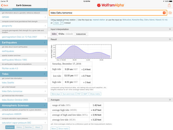 WolframAlpha iPad Screenshot 4