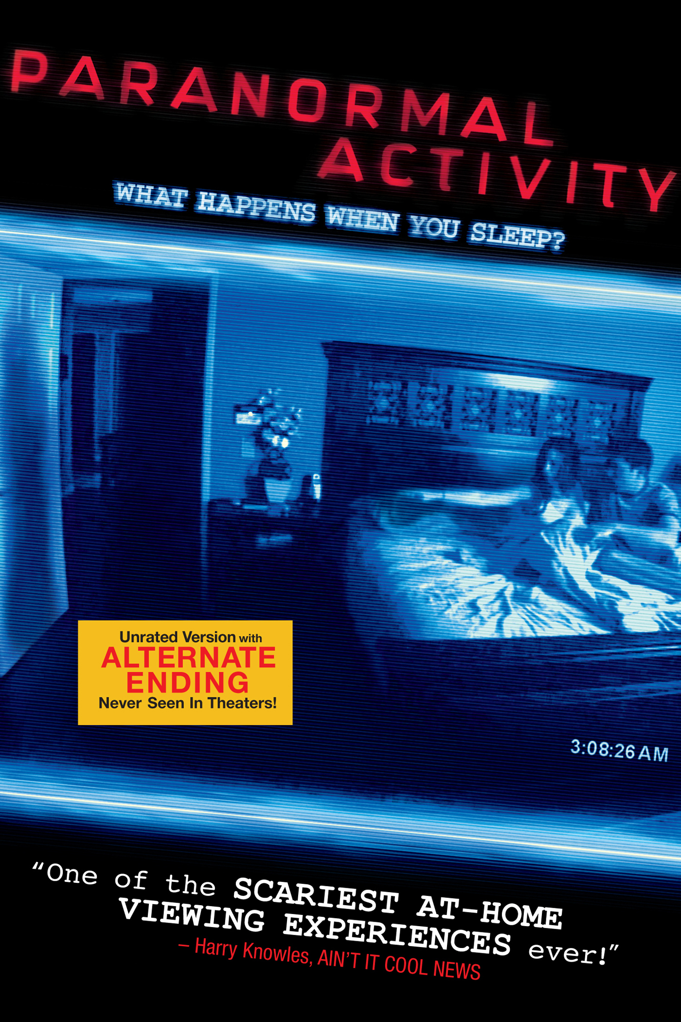 itunes movies paranormal activity alternate ending