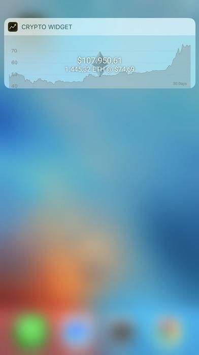 Screenshot Crypto Currency Widget & Complication: Ethereum