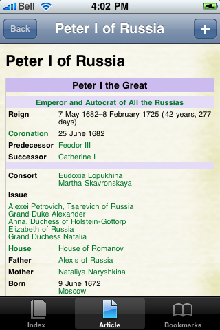 Peter the Great Study Guide screenshot #1