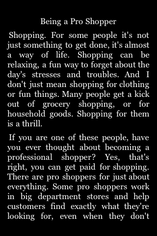 Being a Pro Shopper image #1