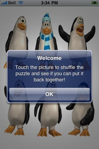Funny Penguins Slide Puzzle screenshot #2