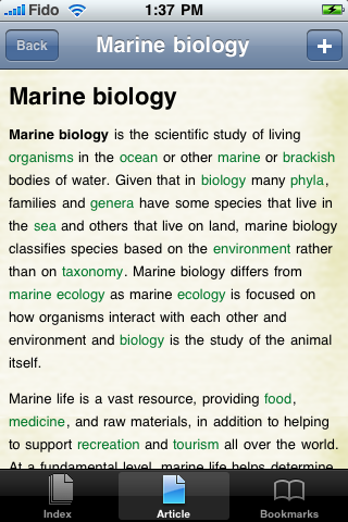 Marine Biology Study Guide screenshot #1