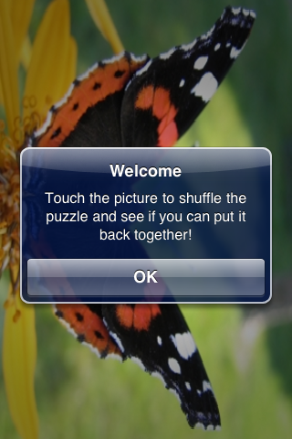 Red Admiral Butterfly Slide Puzzle screenshot #3