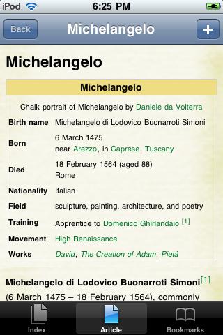 Michelangelo Study Guide screenshot #1
