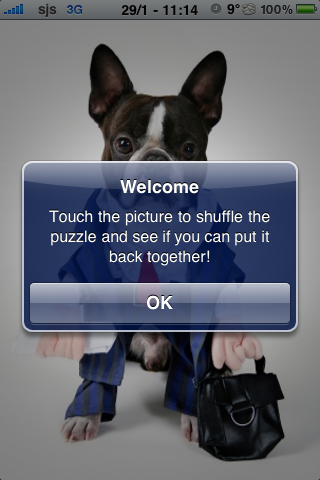 Business Man Dog Slide Puzzle screenshot #3