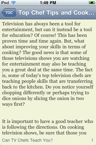 Top Chef Tips and Cooking Information screenshot #2