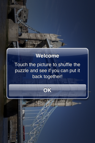 London Tower Bridge Slide Puzzle screenshot #2