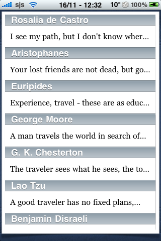 Travel Quotes screenshot #2