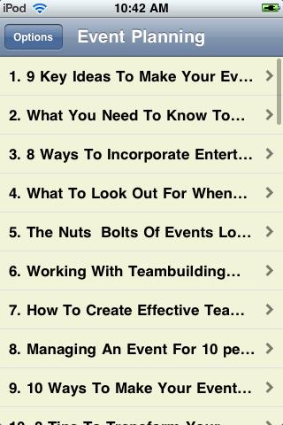 Event Planning Guide screenshot #2