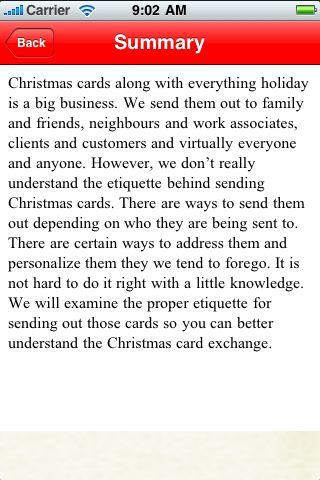 iGuides - Christmas Card Etiquette screenshot #3