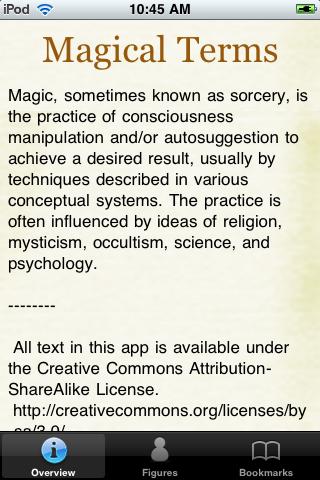 Magical Terms Pocket Book screenshot #1