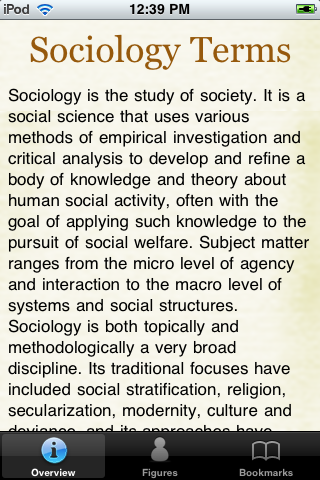Sociology Terms screenshot #1