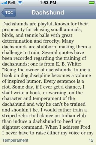 The Dachshund Book screenshot #2