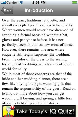 iGuides - Wedding Gift Etiquette screenshot #2
